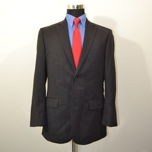 Pronto Uomo 40R Sport Coat Blazer Suit Jacket Blac